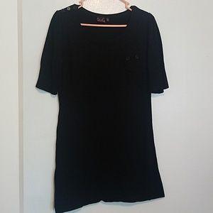 Take Out black sweater tunic dress
